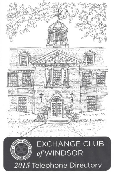 "The Exchange Club of Windsor - New ""Free"" 2015 Telephone Directory  has been delivered. We hope you use & enjoy our 51th Edition!"