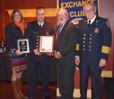 Windsor Volunteer Fire Dept's Lt. John Desrosiers Honored